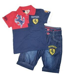 Ferrari French Eagle 2-pc Toddler Boys Set Sz 2